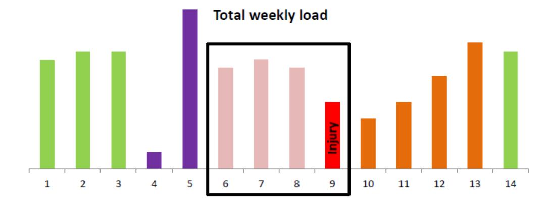 Total weekly load