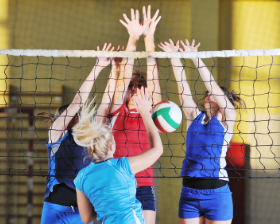 Volleyball tile